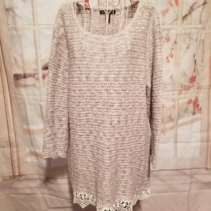 NWOT INC International Concepts Gray Sweater